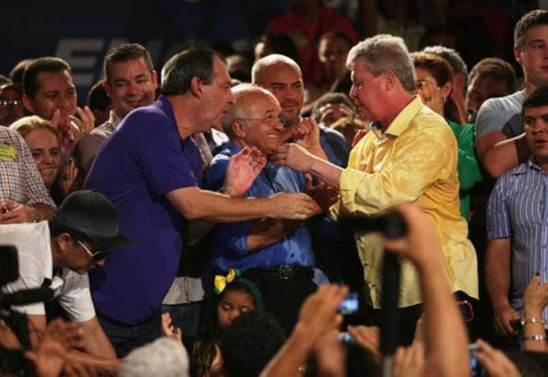 Omar, Melo e Arthur: promessa de aliança para 2016 (Foto: Valmir Lima)