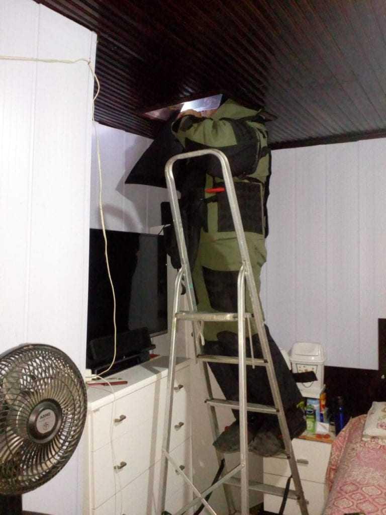Suposta bomba é encontrada em forro de residência na zona sul de Manaus