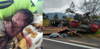 Vídeo: grávida morre após ter útero rompido durante acidente e bebê sobrevive - Imagem: Divulgação