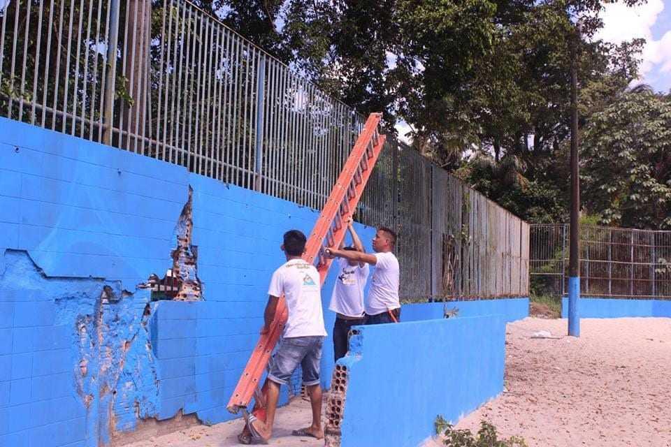 Voluntários reformarão quadra esportiva e centro social da comunidade, na zona norte de Manaus - Imagem: Divulgação