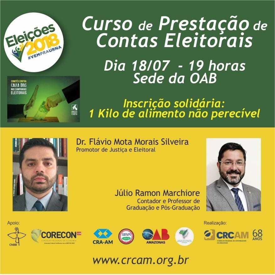 Comitê de Combate à Corrupção no Amazonas realiza curso sobre Propaganda e Prestação de Contas Eleitorais