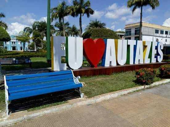 Letreiro Eu Amo Autazes./ Foto: Divulgação