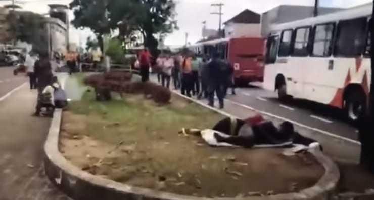 Repórter de Portal denuncia agressão por presidente do Sindicato dos Rodoviários- Imagem: Reprodução