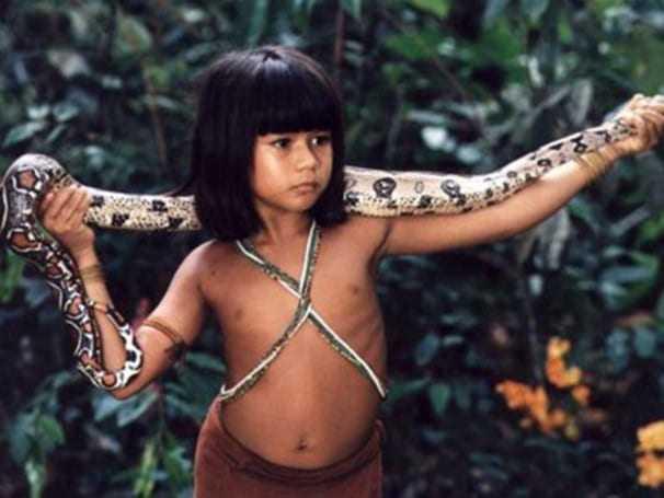 Eunice Baía como a indiazinha Tainá / Foto : Reprodução