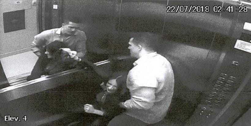 Imagens mostram agressões de marido a advogada que caiu do 4º andar de prédio / Foto: Reprodução