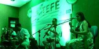 """Grupo Poronga se apresentando durante o lançamento do projeto """"Tefe Cultura, Turismo e Tradição"""" / Foto : Prefeitura de Tefé / Divulgação"""