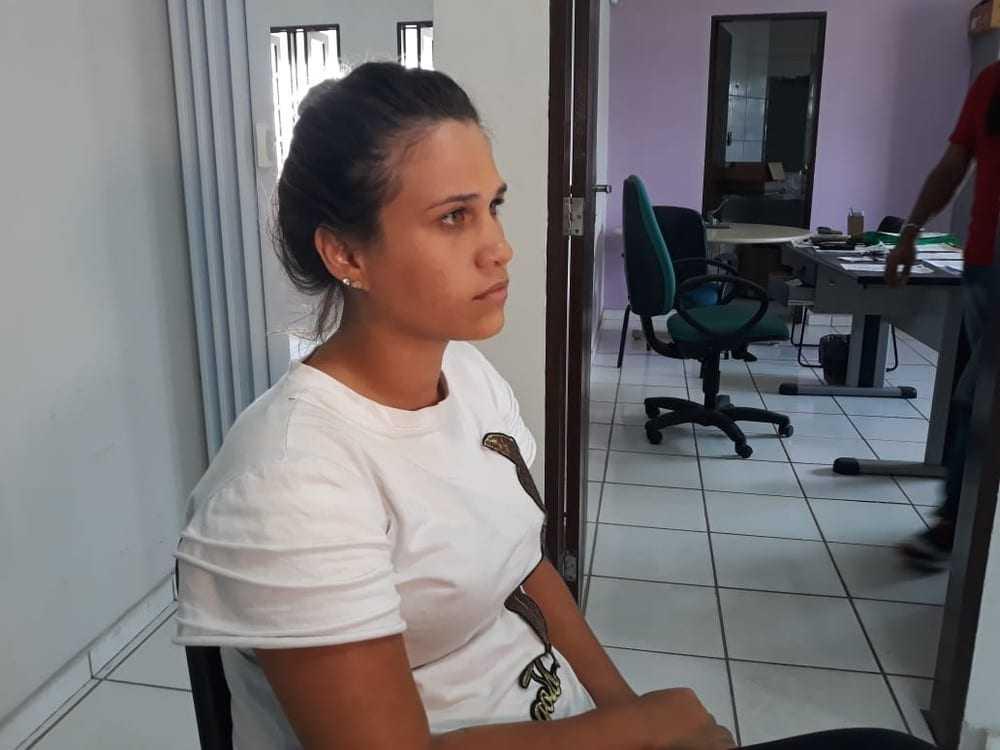 Ana Augusta Josuá, de 24 anos, prestou depoimento após denunciar agressão do cantor Francisco Luciano, da banda Brilhantes do Forró, em Natal (Foto: Mariana Rocha/Inter TV Cabugi)