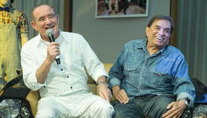 Renato Aragão e Dedé Santana no lançamento do novo 'Os Trapalhões' (Foto: Globo/João Cotta)