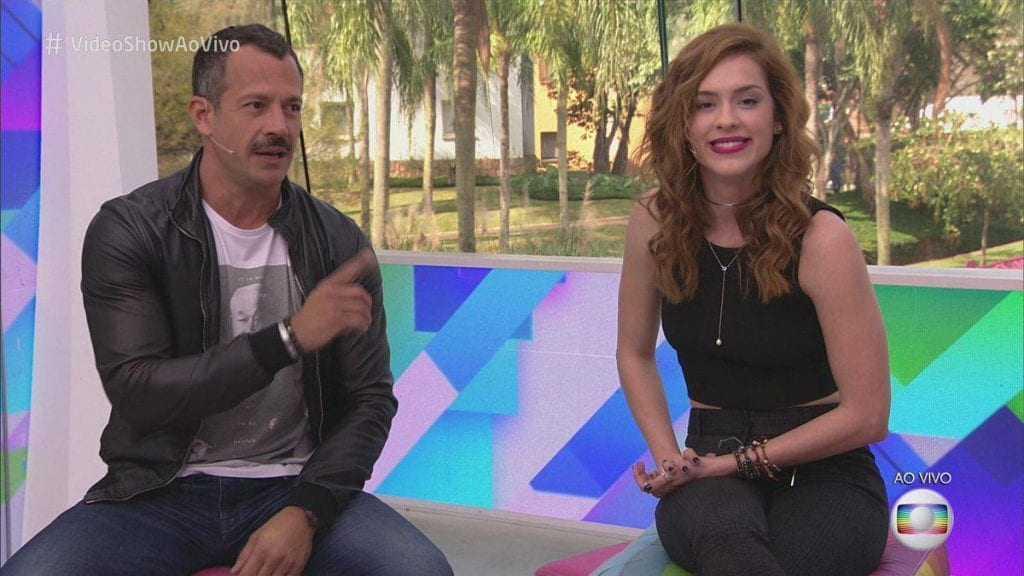 Malvino Salvador e Sophia Abrahão apresentam o Vídeo Show (Foto: Reprodução)