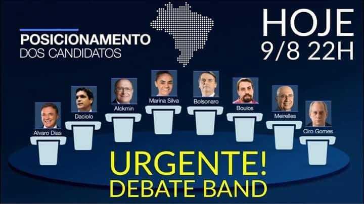 Hoje acontece o primeiro debate presidencial de 2018