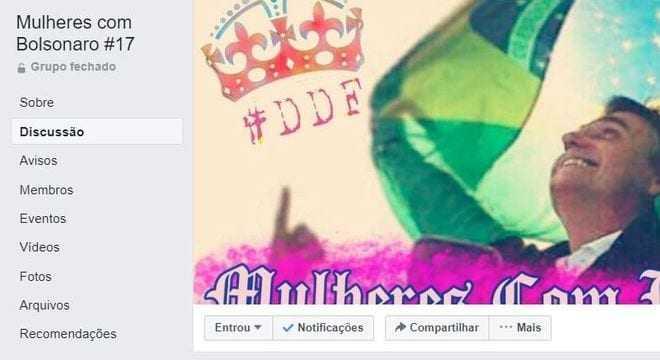 Grupo de mulheres contra Bolsonaro é hackeado no Facebook - Imagem: Reprodução