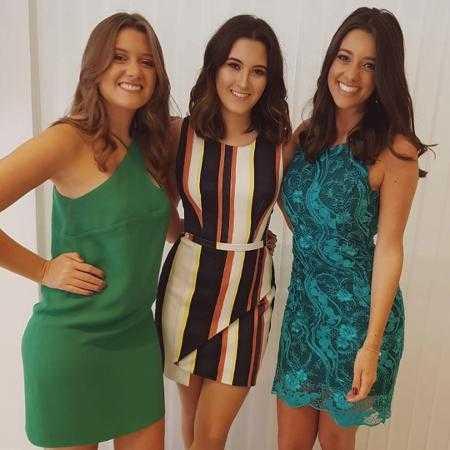 Beatriz Bonemer, filha de William e Fátima, com as primas Isabel Bonemer e Luiza Tenente, apresentadora do G1 em 1 minuto