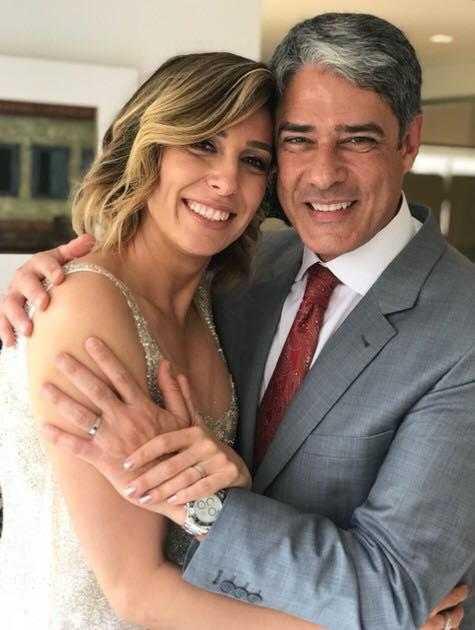 William Bonner e a esposa Natasha Dantas (Foto: Divulgação/O Globo)