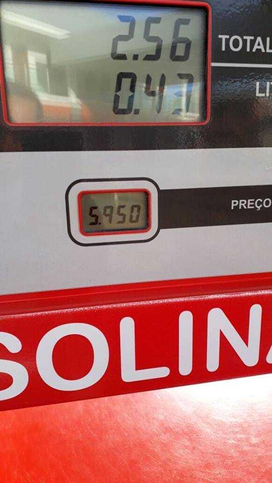 Preço da Gasolina na cidade de Lábrea