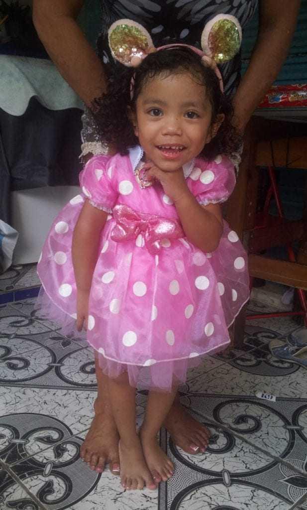 Dhuly Anna Neves de Oliveira Nunes, a Aninha, de 2 anos e 11.