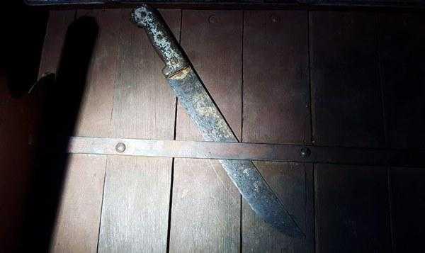 facão usado no crime / Foto: Divulgação/PMDF