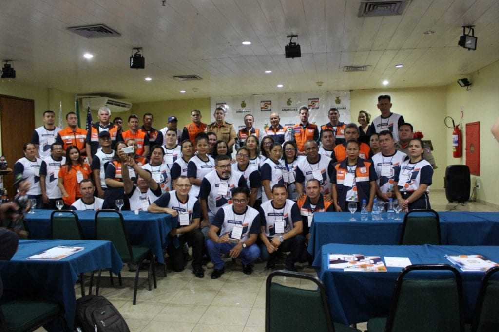 Coordenadores de Defesa Civil de todo o estado que participam do evento. / Foto: Divulgação/Defesa Civil