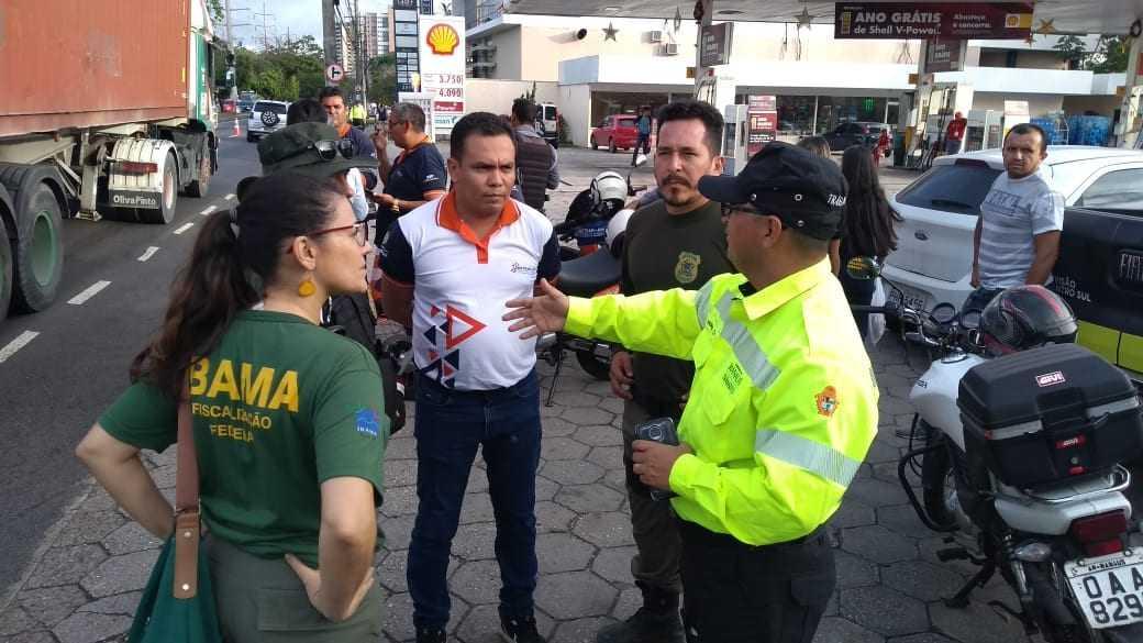 Os três órgãos públicos fizeram a ação na tarde desta segunda-feira (10). / Foto: Divulgação