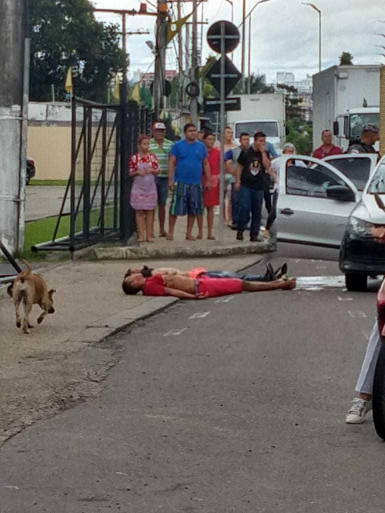 PM-AM manda 3 bandidos pro colo do tinhoso na Torquato Tapajós / Foto : Divulgação