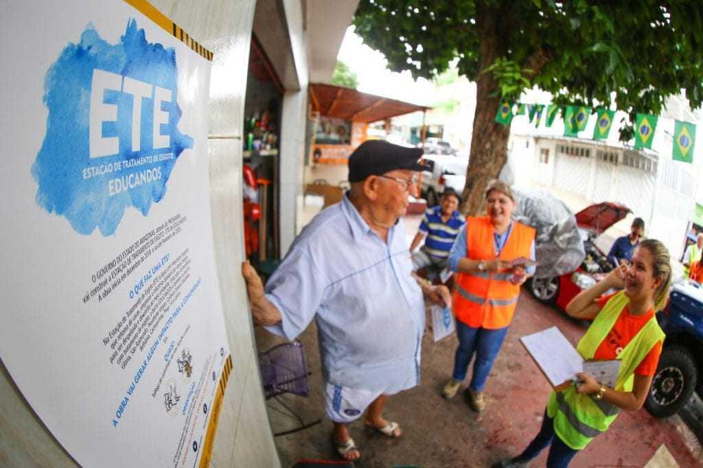 A ação foi conduzida pela equipe socioambiental do Programa Social e Ambiental dos Igarapés de Manaus (Prosamim). / Foto: Tiago Corrêa