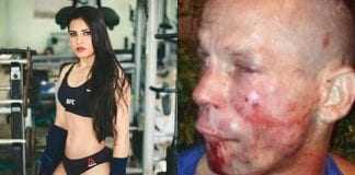 Ladrão tenta assaltar lutadora do UFC com arma de papel e é guisado