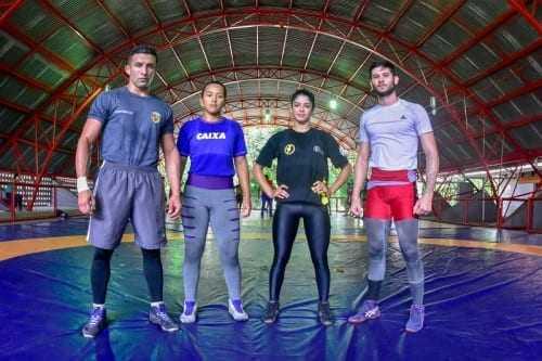 Os atletas selecionados para competição são Tasso Alves, Matheus Frota, Rita Reis e Brenda Ariane . / Foto: Mauro Neto/SEJEL