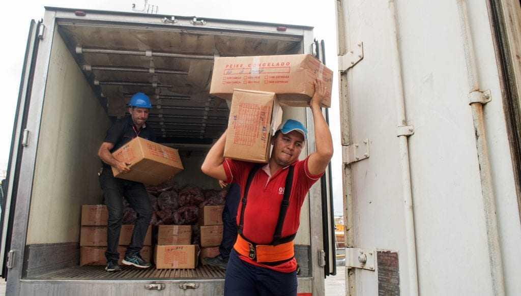 Os 1,4 mil toneladas mantém as escolas abastecidas entre 40 a 60 dias. / Foto: Divulgação Seduc-AM / Cleudilon Passarinho