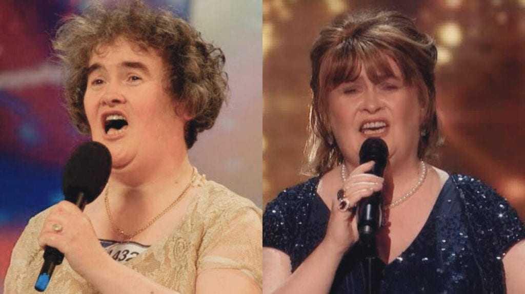 Susan Boyle reaparece no programa americano American's Got Talent 10 anos após surpreender o mundo com sua forte voz. / Foto: Reprodução