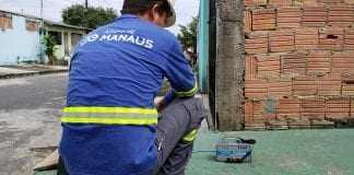 A Águas de Manaus vai ampliar os pontos de monitoramento de pressão de água em Manaus, através de um aparelho chamado datalogger./ Foto: Adan GarantizadoA Águas de Manaus vai ampliar os pontos de monitoramento de pressão de água em Manaus, através de um aparelho chamado datalogger./ Foto: Adan Garantizado