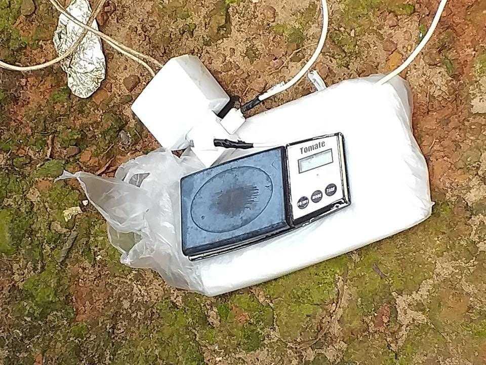 o aparelho foi interceptado após denúncias informar que alguém estava operando um drone que fazia entrega delivery de drogas. / Foto: Divulgação