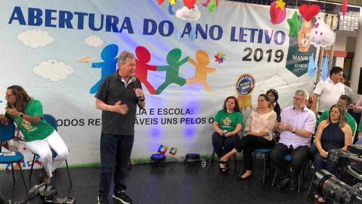 Segundo o Prefeito Artur Neto, o objetivo é chegar ao 8º lugar do IDEB até fim desta gestão. / Foto: Divulgação