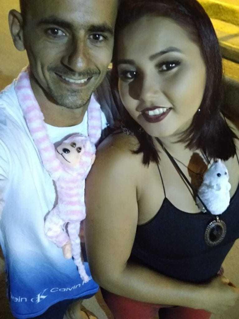 A vítima e o ex-marido. Foto: Divulgação/Facebook