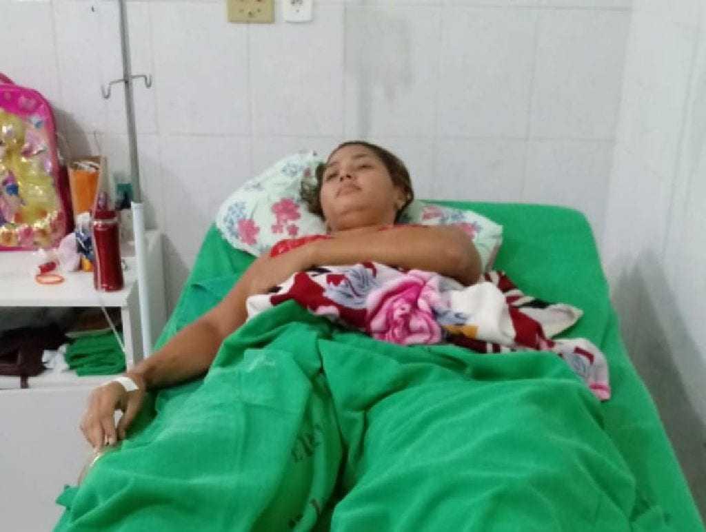 Agerlândia também recebe acompanhamento psicológico no hospital em Rio Branco. / Foto: Arquivo Pessoal