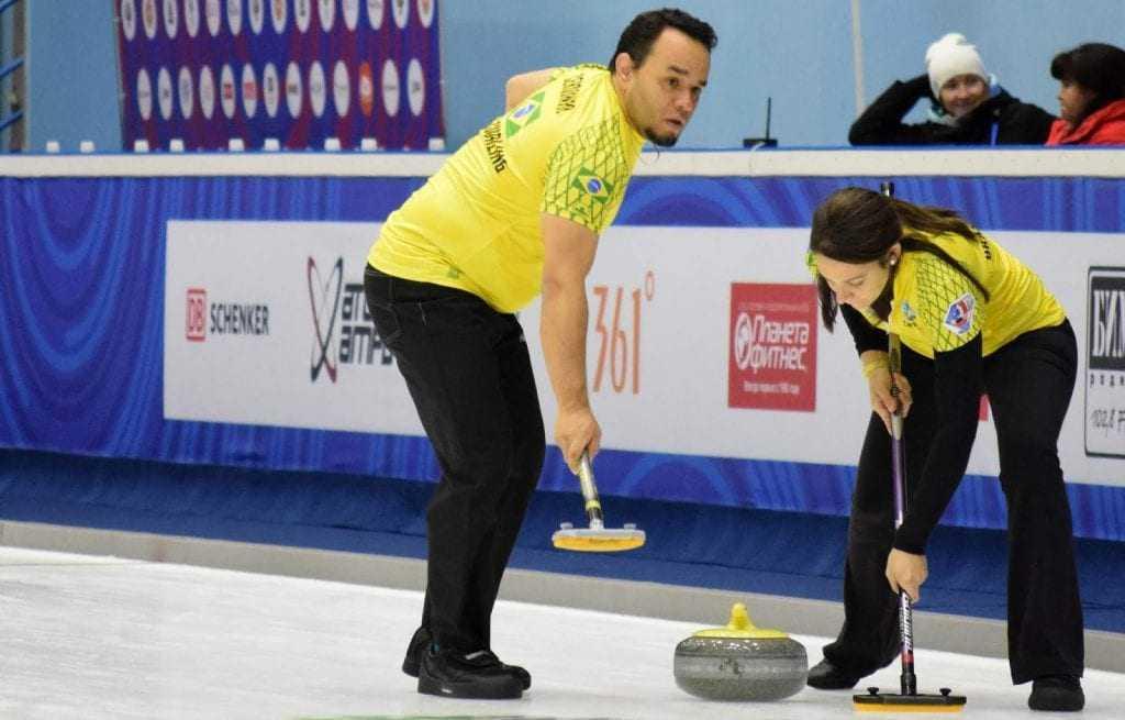 Marcio Cerquinho e Luciana Barrella voltaram a jogar juntos e representaram o Brasil nas Duplas Mistas (Reprodução)