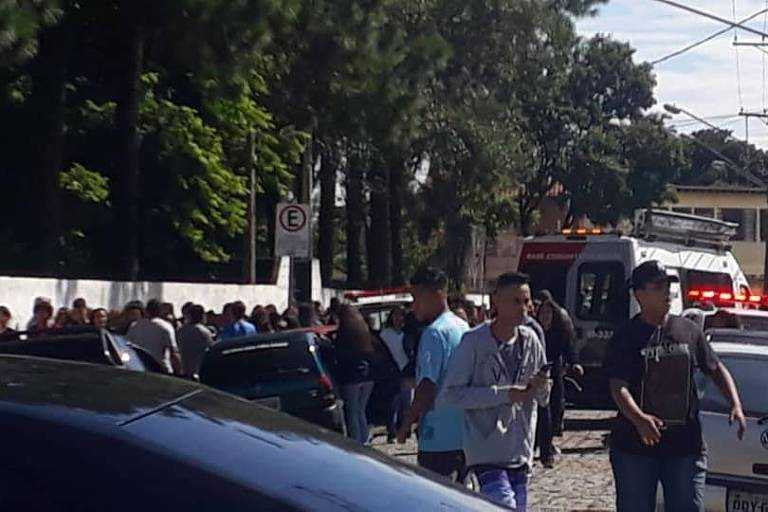 Escola Raul Brasil, em Suzano, onde crianças foram baleadas em um atentado. / Reprodução/Redes Sociais