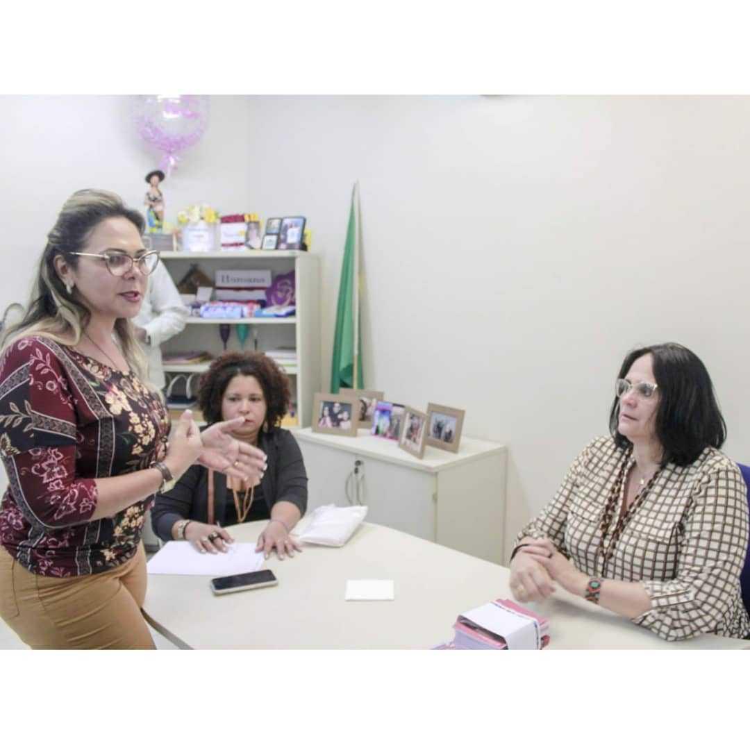 Mirtes Salles se reúne com ministra para apresentar cartilha da mulher