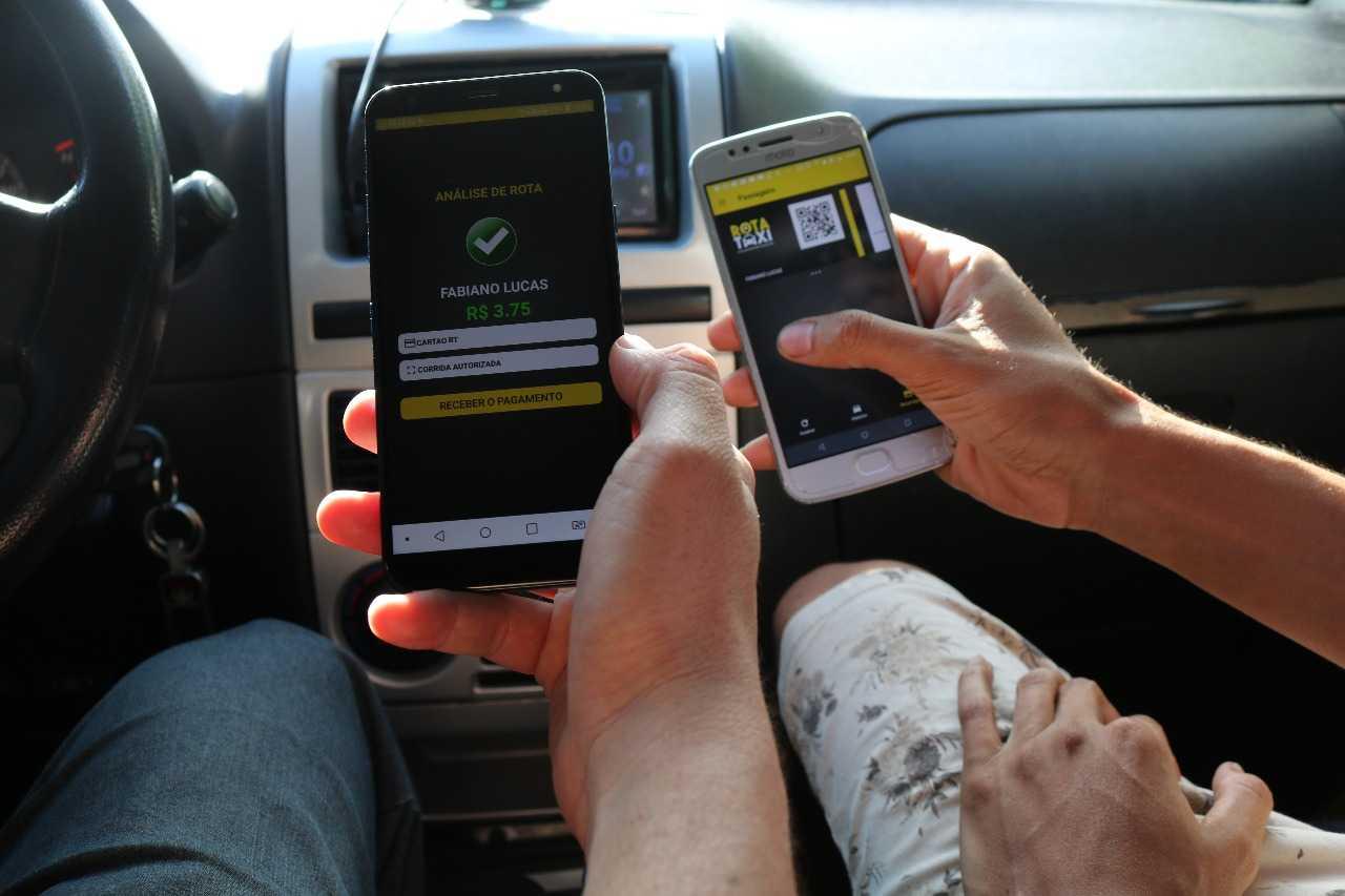 Por enquanto, 150 veículos legalizados para esse segmento, fazem parte da frota do Rota Taxi. A meta é aumentar esse quantitativo. / Foto: Divulgação