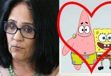 Damares agora diz que Bob Esponja namora o amigo Patrick.