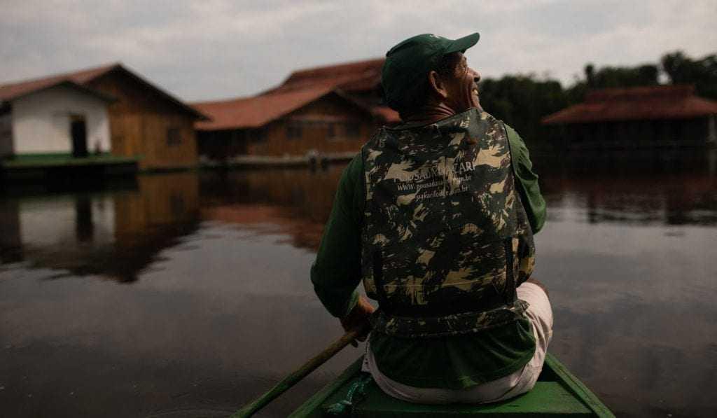 Pousada Uacari é empreendimento pioneiro no país (Foto: Everson Tavares)