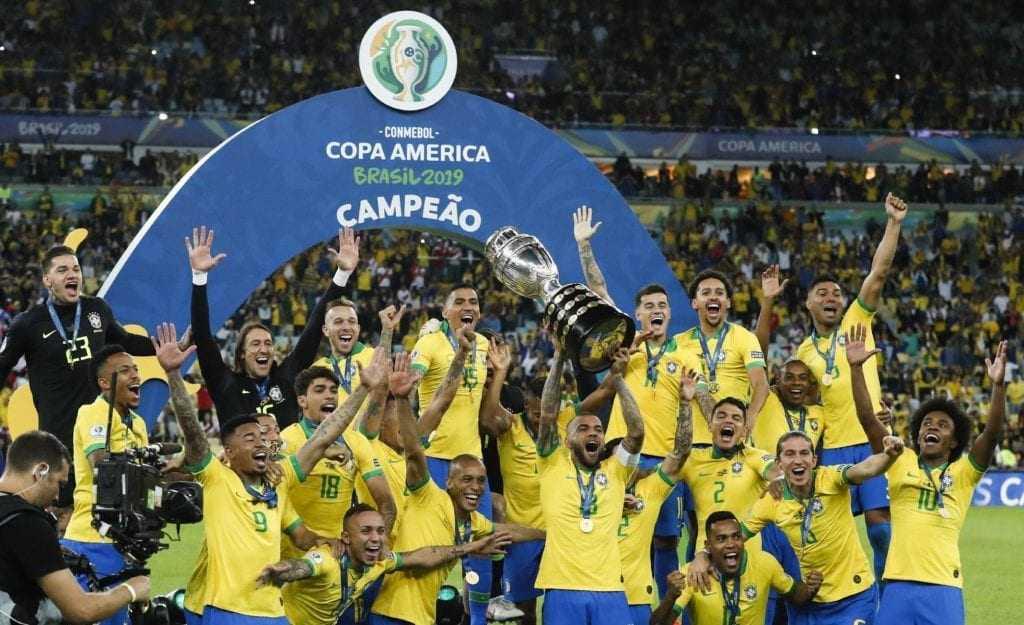 Brasil campeão da Copa América no Brasil
