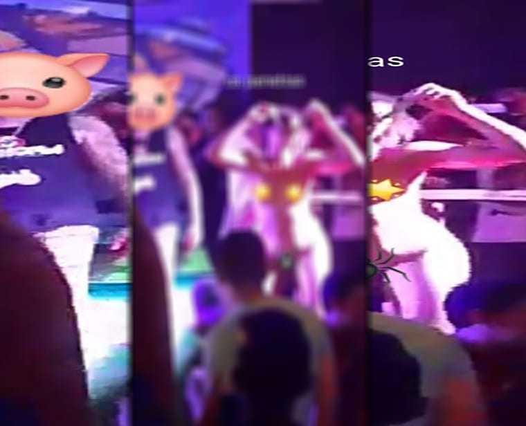 """Forró em Manaus perdeu o limite. Mulheres nuas dançando com o """"Mc Bacon"""""""