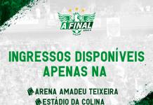 Ingressos quase esgotados para a final entre Manaus FC e Brusque - SC pelo Campeonato Brasileiro Série D
