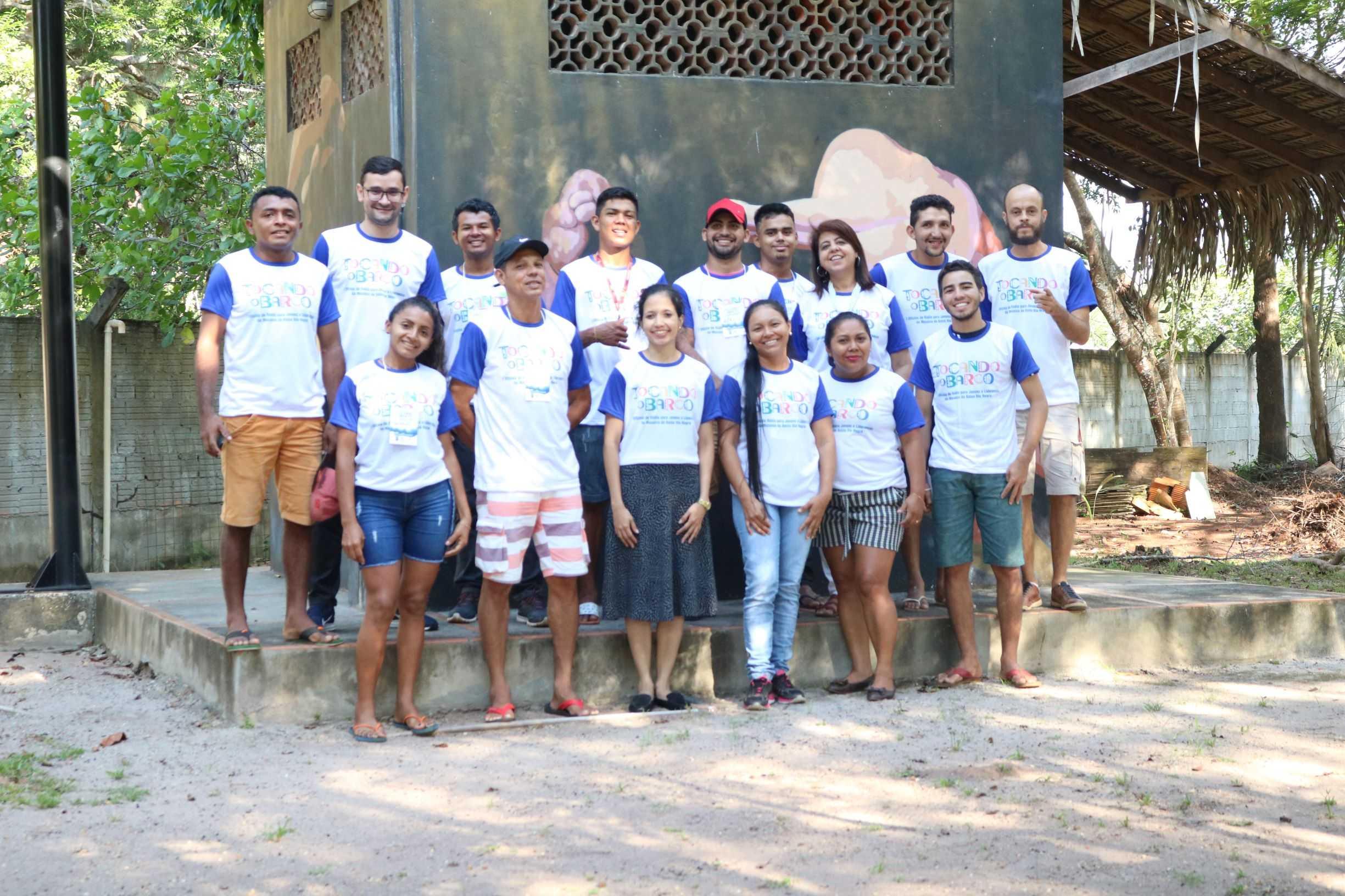 Jovens e lideranças comunitárias do Mosaico do Baixo Rio Negro  / Foto : Tarcísio Magdalena