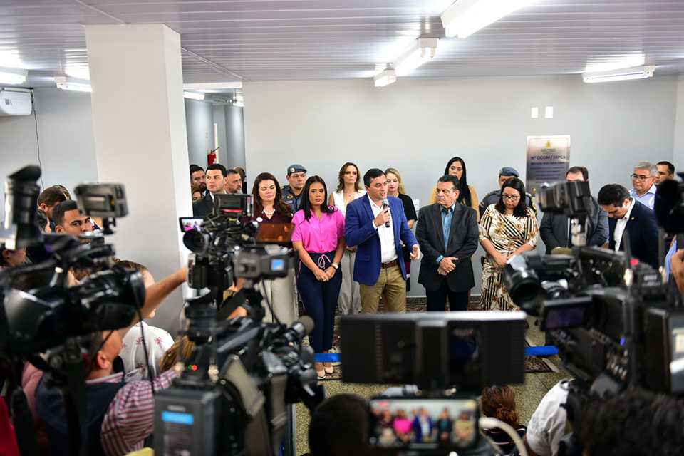complexo de segurança que abriga 16ª Cicom e Delegacia de Proteção à Criança e ao Adolescente/ Foto : Bruno Zanardo / SCOM