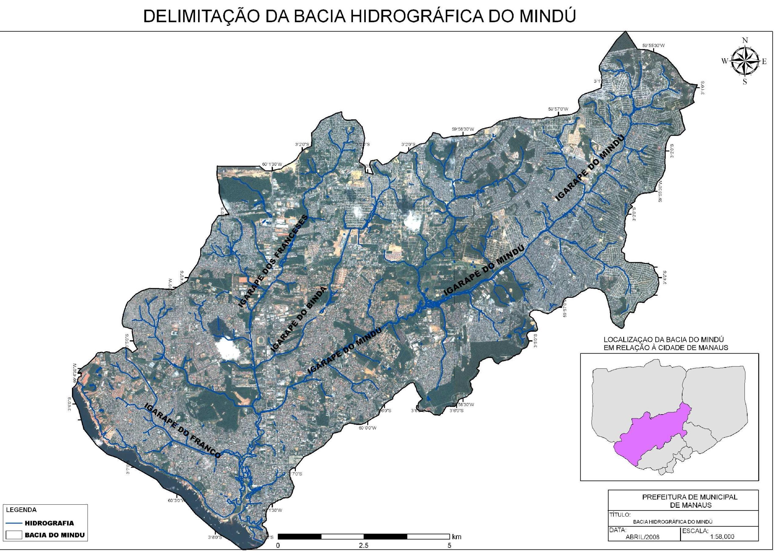 Igarapé dos Franceses, do Bindá e do Mindu em Manaus
