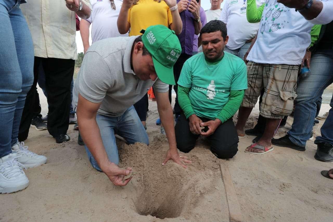 Em Carauari, Governador visita unidade de conservação e autoriza novo manejo de quelônio na região
