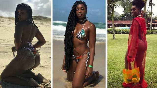 Iza mostrou toda a beleza em foto em praia (Foto: Reprodução/ Instagram)