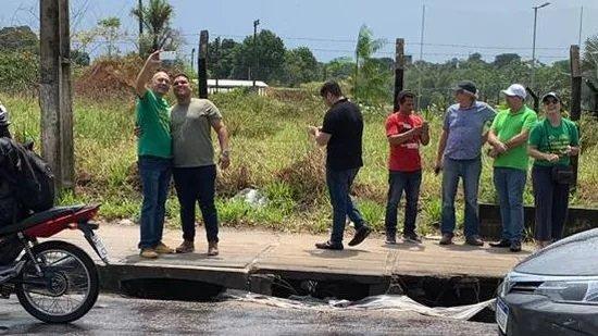 Luciano Hang em Manaus em busca de terreno para mega lojas da Havan