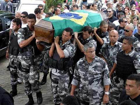 Violência no Brasil mata 1800% mais policiais do que a guerra no Afeganistão