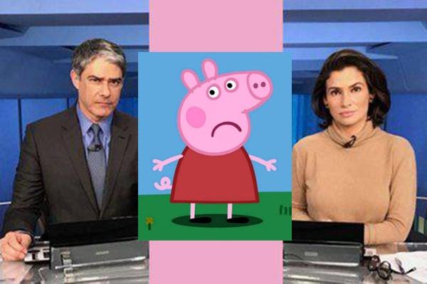 Sobrou pra Peppa Pig! Briga entre Joice e Eduardo Bolsonaro faz JN ter que explicar quem é Peppa Pig; veja